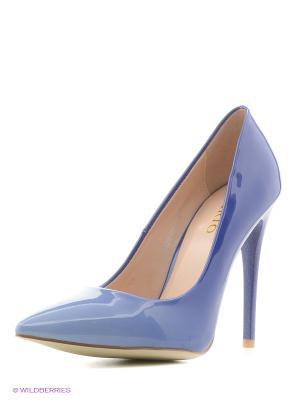 Туфли INARIO. Цвет: голубой