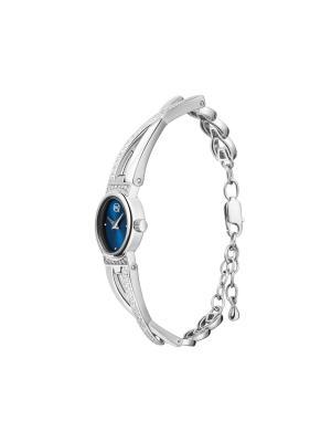 Часы ювелирные коллекция Chic QWILL. Цвет: синий