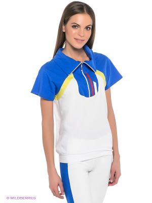 Футболка Grishko. Цвет: белый, синий
