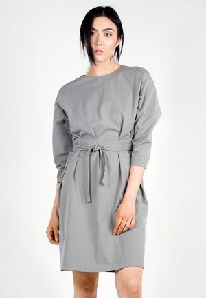 Платье BURLO. Цвет: серый