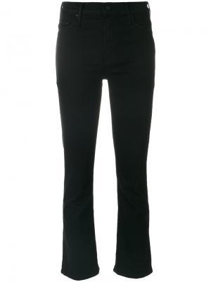 Укороченные джинсы клеш Mother. Цвет: чёрный