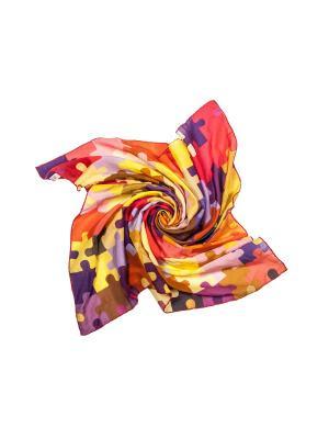 Платок Frija. Цвет: фиолетовый, светло-коралловый, красный, оранжевый, розовый
