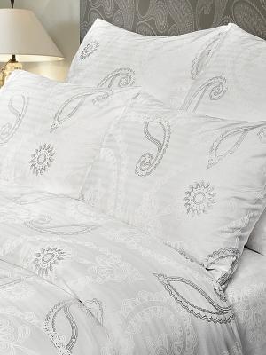 Комплект постельного белья Verossa Страйп. Цвет: светло-серый, белый