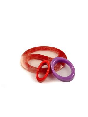 Пряжка Волшебная пуговица Овал инь-ян и кольцо для шарфа madam Пряжкина. Цвет: бронзовый, оранжевый, фиолетовый