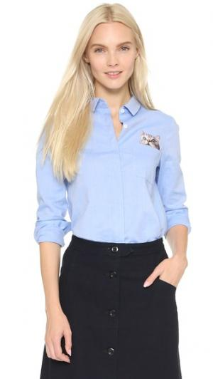 Рубашка Chaperche Paul & Joe Sister. Цвет: небесно-голубой