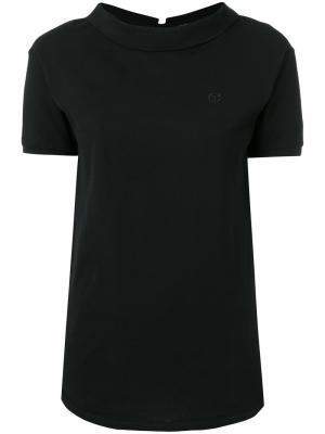Рубашка-поло с кроем задом наперед Telfar. Цвет: чёрный