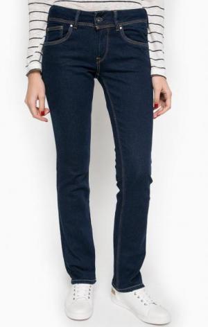Джинсы прямого кроя со стандартной посадкой Pepe Jeans. Цвет: синий