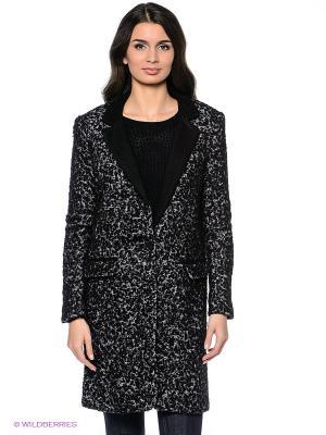 Пальто Vero moda. Цвет: черный