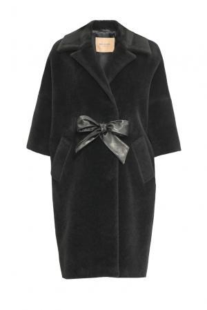 Пальто с поясом 152589 Mia Blanca. Цвет: черный