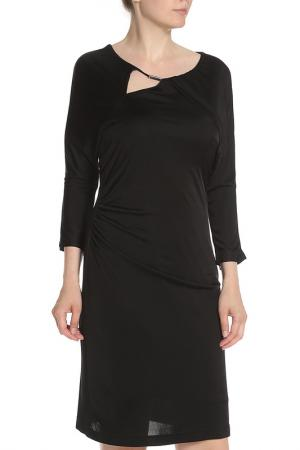 Трикотажное платье для офиса Apanage. Цвет: черный