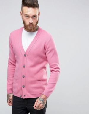 ASOS Кардиган из овечьей шерсти. Цвет: розовый