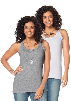 Топ, 2 штуки BOYSENS BOYSEN'S. Цвет: серый меланжевый+белый, синий+темно-синий, цвет белой шерсти+черный, ягодный+серо-коричневый