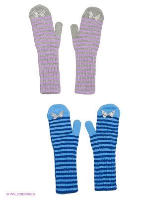 Варежки FOMAS. Цвет: светло-серый, синий, голубой, сиреневый