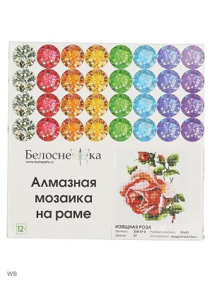 Мозаика на подрамнике. Изящная роза (350-ST-S) Белоснежка. Цвет: белый