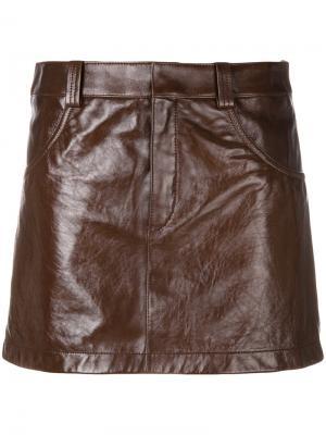 Облегающая мини-юбка Chloé. Цвет: коричневый