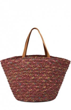 Плетеная сумка Bois Cheri Sans-Arcidet. Цвет: бордовый