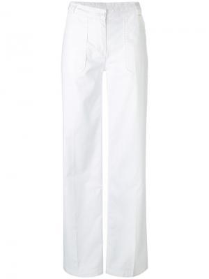 Широкие брюки Woolrich. Цвет: белый