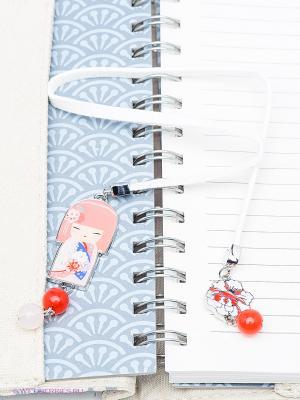 Закладка для книг Kimmidoll. Цвет: бледно-розовый, белый, коралловый
