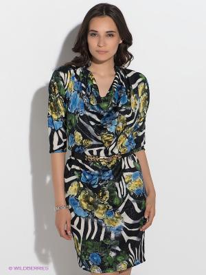 Платье GUESS. Цвет: черный, зеленый, голубой, белый