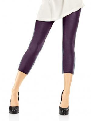 Леггинсы-капри, модель SHINE SHORT 247 MARILYN. Цвет: темно-фиолетовый