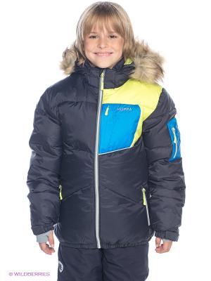 Куртка HUPPA. Цвет: черный, синий, салатовый