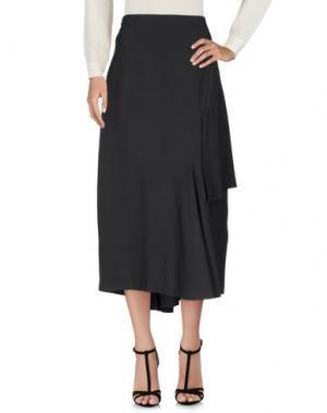 Длинная юбка OBLIQUE CREATIONS. Цвет: свинцово-серый