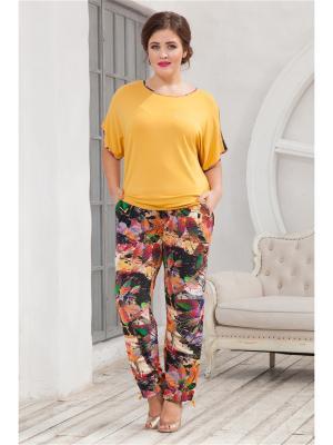 Комплект одежды CLEO. Цвет: горчичный, черный