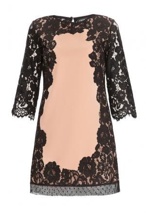 Кружевное платье 159837 Twin-set. Цвет: разноцветный