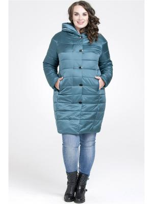 Пальто Modress. Цвет: морская волна, бирюзовый