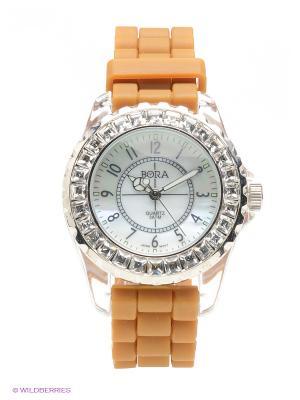 Часы Bora. Цвет: оранжевый, белый