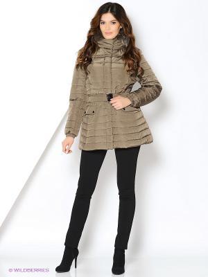 Куртка Azule. Цвет: коричневый