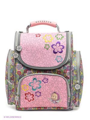 Рюкзак Сказка Маша и медведь. Цвет: серый, розовый