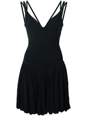 Платье с расклешенной юбкой Alaïa Vintage. Цвет: чёрный
