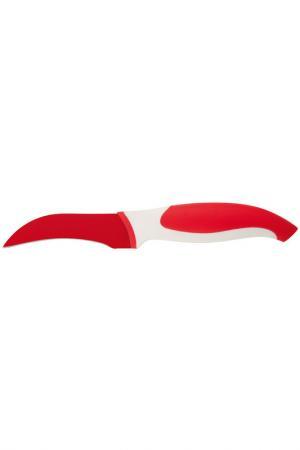 Нож для овощей изогнутый 3,5'' Granchio. Цвет: красный