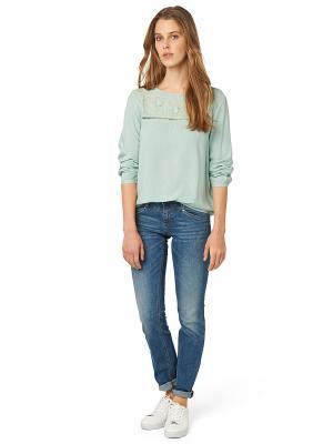 Блузка TOM TAILOR. Цвет: зеленый
