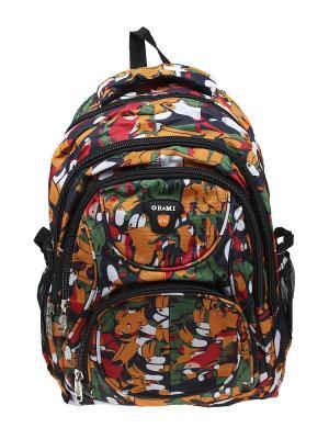 Рюкзак Olere. Цвет: черный, зеленый, оранжевый
