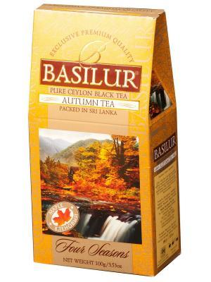Чай черный ВРЕМЕНА ГОДА Осенний с ароматом кленового сиропа, 100 гр, картон Basilur. Цвет: черный