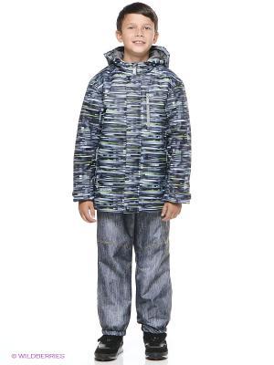 Куртка Devance. Цвет: серый, салатовый