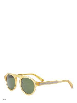 Солнцезащитные очки DQ 0150 39N Dsquared2. Цвет: желтый, коричневый