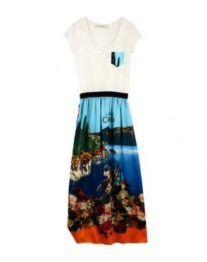 Длинное платье SHIRTAPORTER. Цвет: лазурный