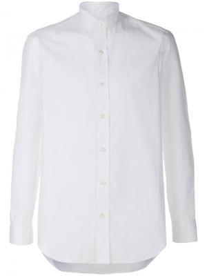 Рубашка с воротником-стойкой Salvatore Piccolo. Цвет: белый