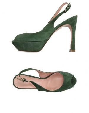 Сандалии ANNA F.. Цвет: зеленый-милитари