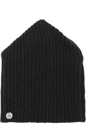 Шерстяная шапка фактурной вязки Lost&Found. Цвет: черный