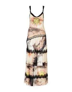 Длинное платье DIDIER PARAKIAN. Цвет: слоновая кость