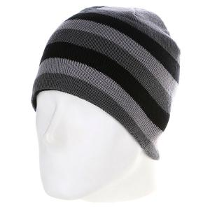 Шапка  3 Stripe Beanie Grey/Elephant/Black Urban Classics. Цвет: серый,черный