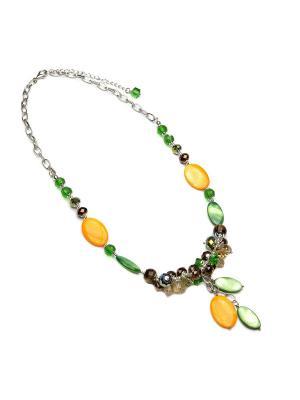 Ожерелье FOXTROT. Цвет: зеленый