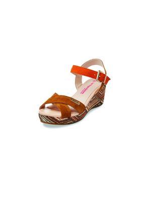 Босоножки Les Tropeziennes. Цвет: коричневый, оранжевый
