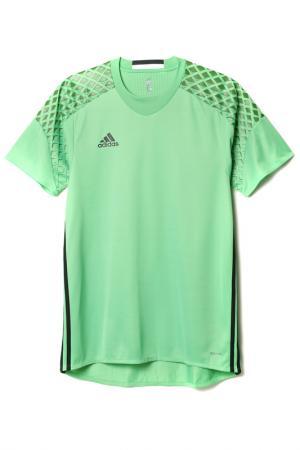 Футболка спортивная adidas. Цвет: зеленый, черный