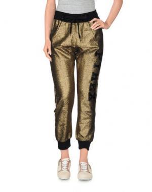 Повседневные брюки PYREX. Цвет: золотистый