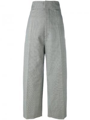 Классические брюки с завышенной талией Jacquemus. Цвет: белый